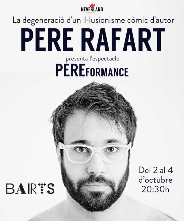 Pere Rafart actua al teatre Barts de Barcelona