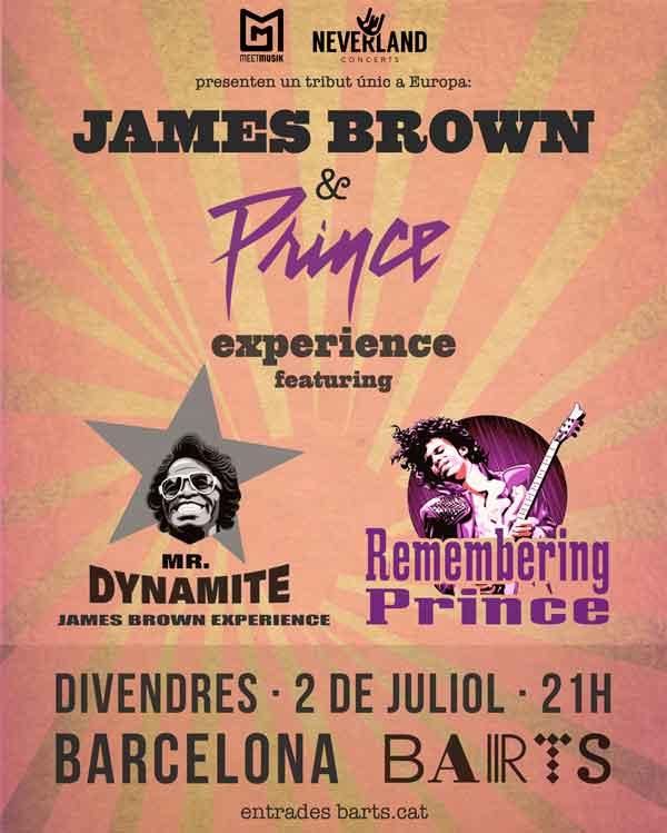 Tribut a James Brown i Prince a Barcelona, sala Barts